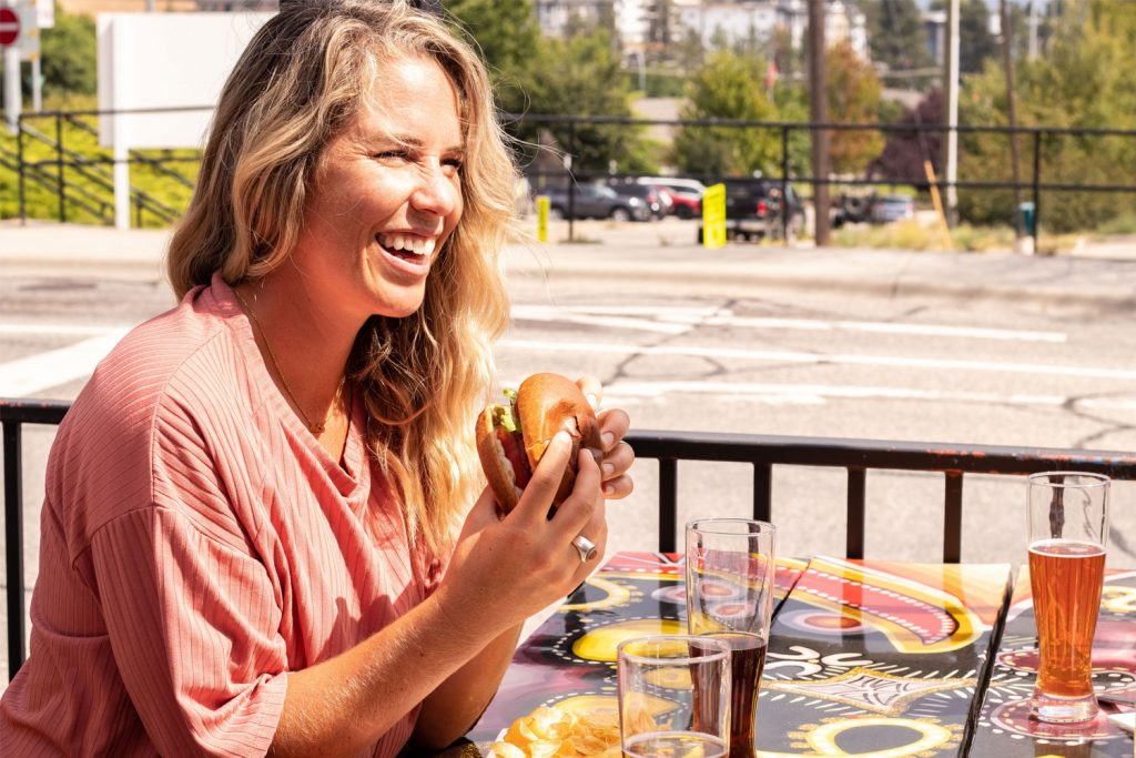 Smoked Burgers - Dining in West Kelowna BC